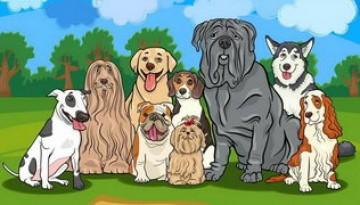 כלבים דפי צביעה