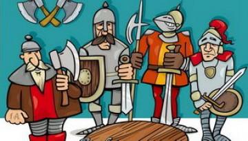 אבירים דפי צביעה