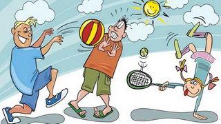ילדים עושים ספורט לצביעה