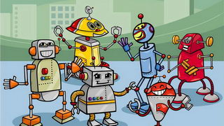 ריקוד הרובוטים דפי צביעה