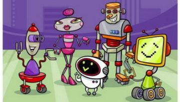 מפגש רובוטים. בוא לצבוע אותם!