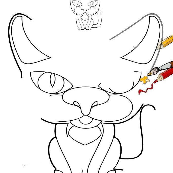 איך מציירים חתול
