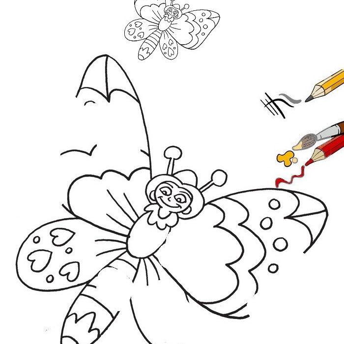 איך מציירים פרפר