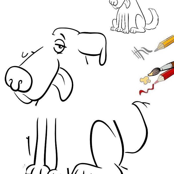 איך מציירים כלב