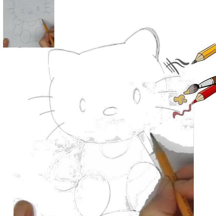 איך מציירים הלו קיטי
