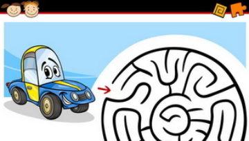 מבוך מרוץ מכונית לילדים
