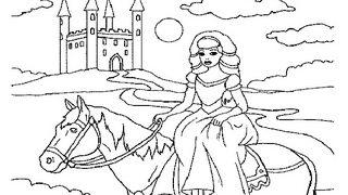 נסיכה על הסוס לצביעה