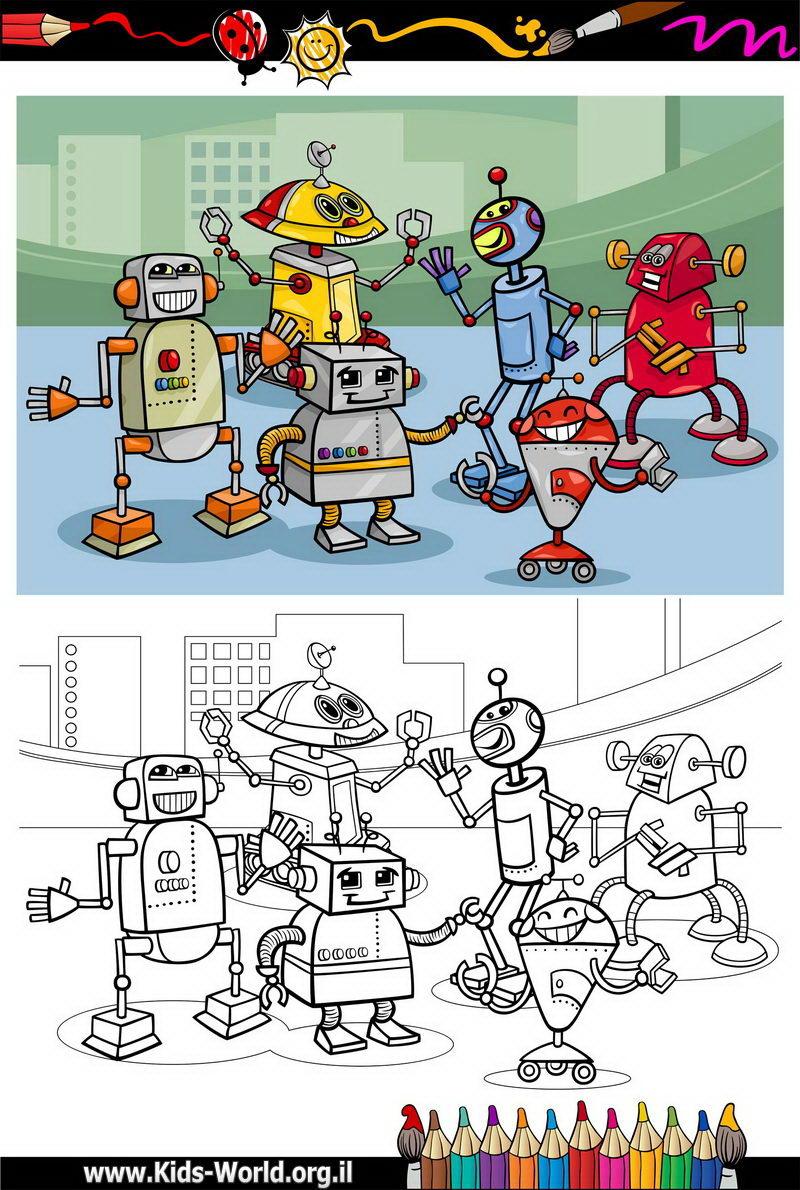 ריקוד הרובוטים דפי צביעה 1