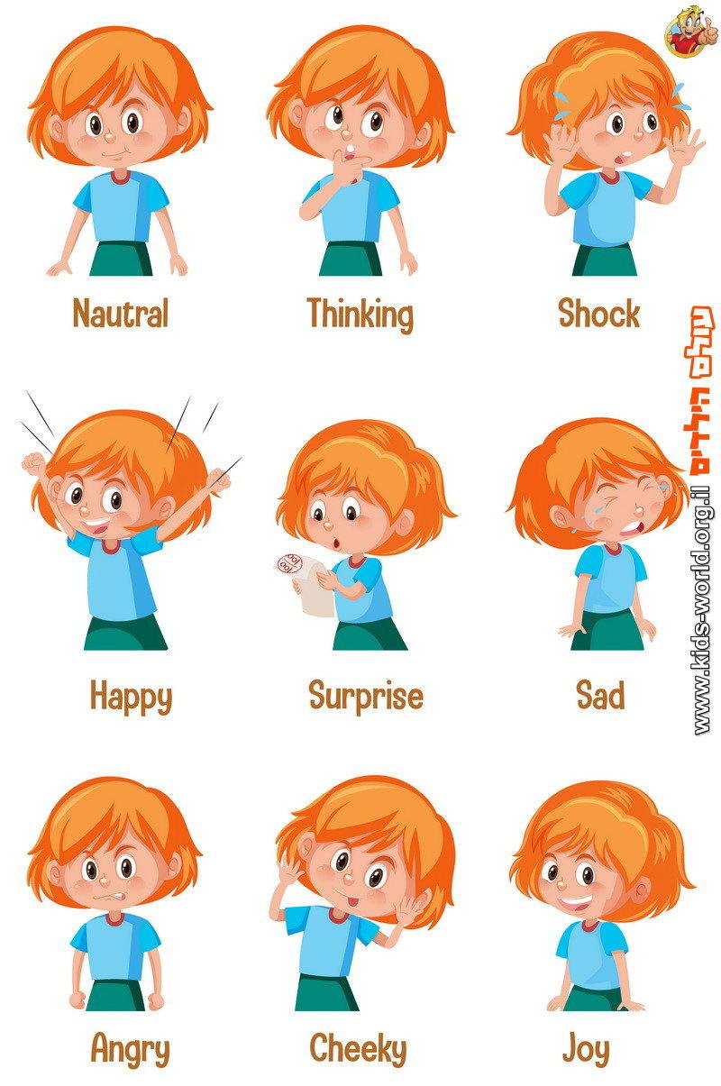 לימוד מילות רגש באנגלית